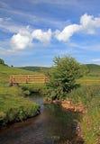 Het landschap van Derbyshire. Stock Foto
