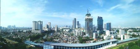 Het landschap van Djakarta stock afbeelding