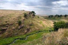 Het landschap van Donbass stock foto's