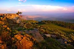 Het landschap van Drakensberg Stock Fotografie