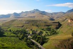 Het landschap van Drakensberg Stock Foto's