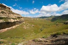 Het landschap van Drakensberg Royalty-vrije Stock Foto