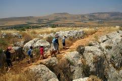 Het landschap van Galilee - stijging met Royalty-vrije Stock Foto's
