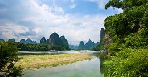 Het landschap van Guilinyangshuo Royalty-vrije Stock Foto