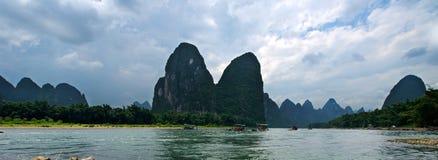 Het landschap van Guilinyangshuo Stock Foto's