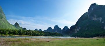 Het landschap van Guilinyangshuo Royalty-vrije Stock Afbeelding
