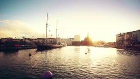 Het landschap van Helsinki stock footage