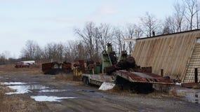 Het landschap van het autokerkhof Stock Foto's