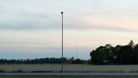 Het landschap van het avondland Stock Afbeelding