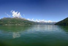 Het landschap van het Comomeer in Bellano, Italië Royalty-vrije Stock Afbeelding