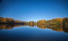 Het landschap van het de herfstmeer Stock Afbeelding