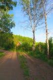 Het landschap van het de zomerdorp Royalty-vrije Stock Afbeeldingen