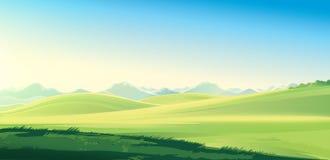 Het landschap van het de zomerland vector illustratie