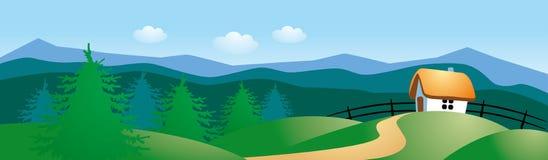 Het landschap van het de zomerplatteland Stock Foto's