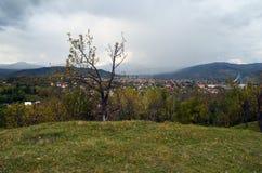Het landschap van het dorp Stock Foto's
