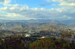 Het landschap van het dorp Stock Foto