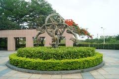 Het landschap van het draakbeeldhouwwerk Stock Afbeelding