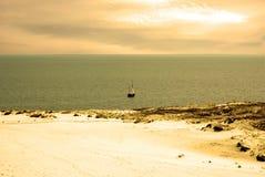 Het landschap van het duin en Overzees Kursiu stock afbeelding