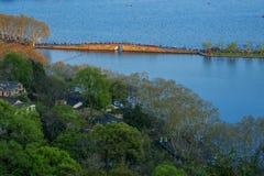 Het landschap van het het westenmeer van Hangzhou Royalty-vrije Stock Foto's
