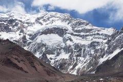 Het zuidengezicht van Aconcagua Royalty-vrije Stock Afbeelding