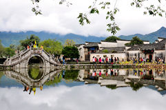 Het landschap van het Hongcundorp, China stock foto