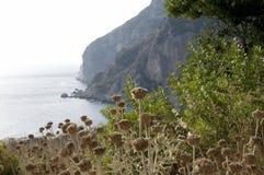 Het Landschap van het Klooster van Korfu Stock Foto's
