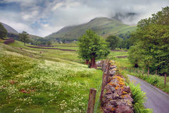 Het landschap van het Lake District Stock Foto's