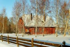 Het landschap van het land. stock foto