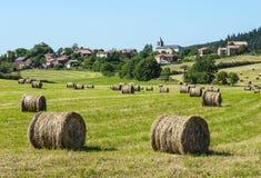 Het landschap van het land in Aveyron (Frankrijk) Stock Afbeelding