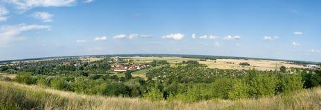 Het landschap van het land. Panorama. Stock Foto