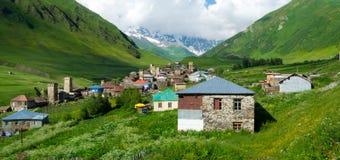Het landschap van het land in Svaneti Stock Fotografie