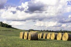 Het landschap van het land van Ohio stock afbeelding