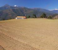 Het landschap van het landbouwbedrijf. Royalty-vrije Stock Foto