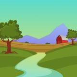 Het Landschap van het landbouwbedrijf Stock Afbeelding