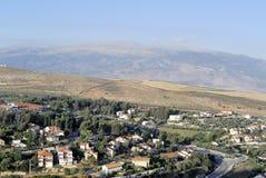 Het landschap van het Metuladorp, Israël Stock Afbeeldingen
