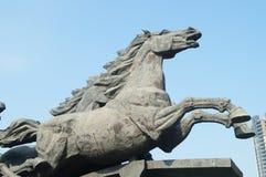Het landschap van het paardbeeldhouwwerk Royalty-vrije Stock Foto's