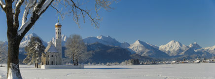 Het landschap van het panorama in Beieren Stock Afbeeldingen