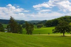 Het landschap van het platteland Stock Fotografie