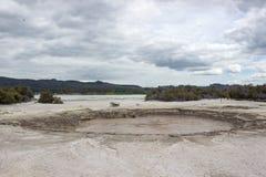Het landschap van het Rotoruameer Stock Fotografie