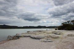 Het landschap van het Rotoruameer Royalty-vrije Stock Fotografie