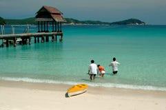 Het landschap van het strand stock foto's
