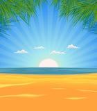 Het Landschap van het Strand van de zomer royalty-vrije illustratie