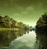 Het landschap van het water. Thailand royalty-vrije stock foto