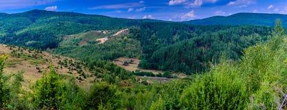Het landschap van heuvelsvaley Stock Afbeeldingen