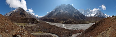 Het landschap van Himalayagebergte Stock Fotografie