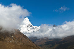 Het landschap van Himalayagebergte, zet Ama op Royalty-vrije Stock Foto