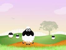 Het landschap van Ierland stock illustratie