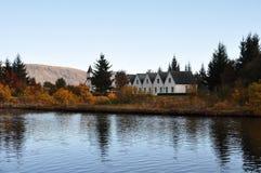 Het landschap van IJsland. Stock Afbeeldingen