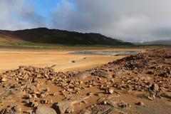 Het landschap van IJsland het natuurlijke kijken landschap Stock Foto