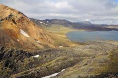 Het landschap van IJsland van Landmannalaugar Royalty-vrije Stock Afbeeldingen